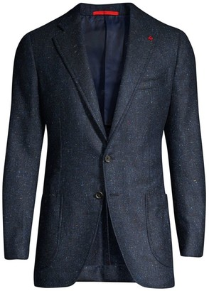 Isaia Classic-Fit Donegal Wool & Silk Sportcoat