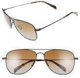 Salt Men's 'Hirschfelder' 61Mm Polarized Sunglasses - Black Sand/ Brown