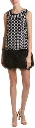 Romeo & Juliet Couture Fuzzy Trim Sweaterdress