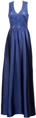 Anna Etter Navy Blue Maxi Dress Feina With Open Back