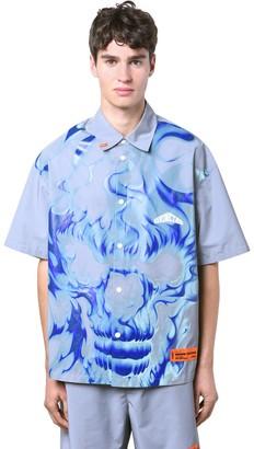 Heron Preston Reflective Skull Tech Ss Shirt
