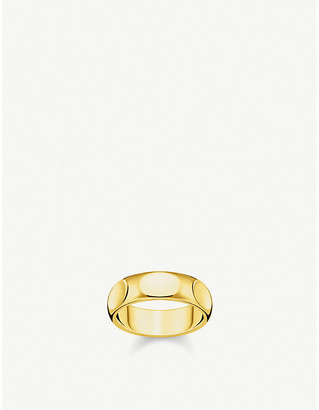 Thomas Sabo Minimalist 18ct gold-plated sterling silver ring