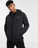 Love Moschino hooded padded jacket-Black