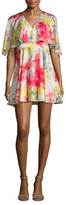 Jay Godfrey Bronfman Floral Printed Flare Dress