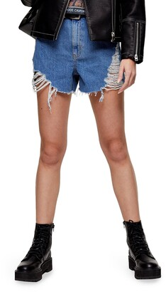 Topshop Super Ripped Mom Shorts
