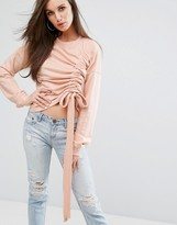 Missguided Gathered Sweathshirt