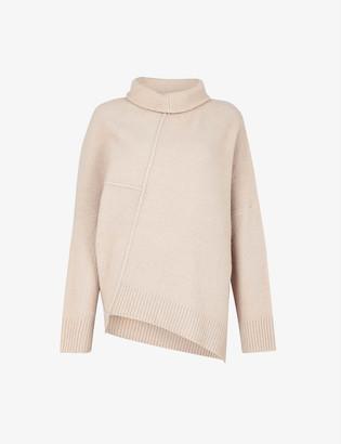 AllSaints Lock roll-neck wool-blend jumper