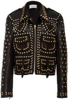 Rodarte Stud Embellished Cargo Leather Jacket
