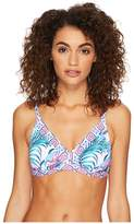 Tommy Bahama Majorelle Over the Shoulder Banded Triangle Bra Women's Swimwear