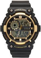 Casio Mens Black Strap Watch-Aeq200w-9av