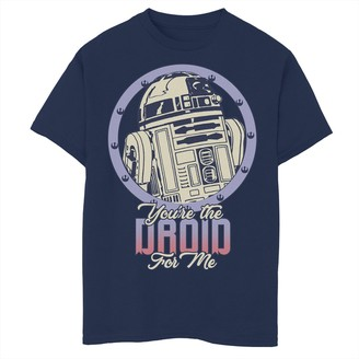 Star Wars Boys 8-20 R2-D2 Droid For Me Valentine's Tee