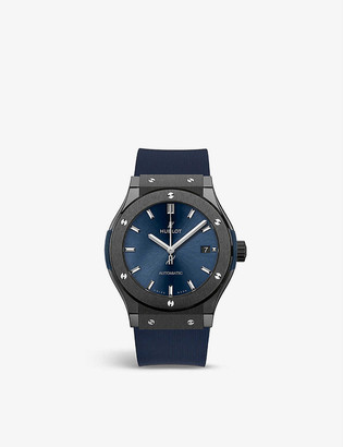 Hublot 511.CM.7170.LR Classic Fusion Ceramic Blue stainless-steel and rubber watch