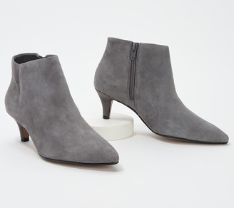 Clarks Collection Leather Heeled Booties - Linvale Sea