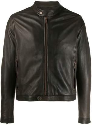 Tagliatore slim-fit biker jacket