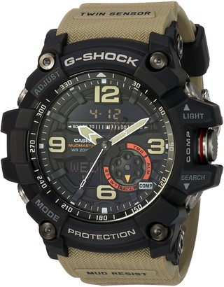 Casio G Shock Quartz Watch with Resin Strap Beige 30 (Model: GG1000-1A5)