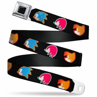 Black//White//Pink 1.5 Wide-24-38 Inches Buckle-Down Unisex-Adults Seatbelt Belt Stripes Regular