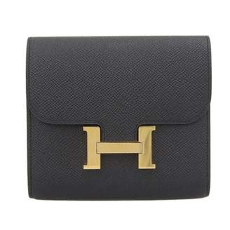 Hermes Constance Black Leather Wallets