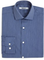 DKNY Boys' Dobby Stripe Button Down Shirt - Sizes 8-18