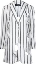 Area Di Barbara Bologna - striped 'Long Holes' blazer - women - Linen/Flax - M