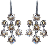 Bottega Veneta Cubic-zirconia and silver chandelier earrings