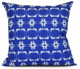 "Beachcrest Home Salvato Outdoor Throw Pillow Size: 16"" H x 16"" W x 3"" D, Color: Blue"