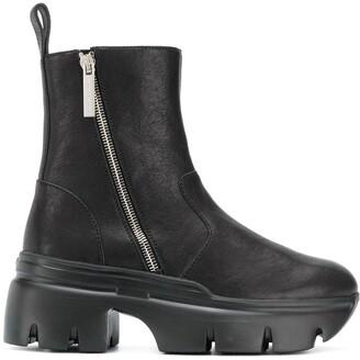 Giuseppe Zanotti Round Toe Zip-Up Boots