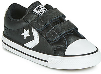 Converse STAR PLAYER EV 2V LEATHER OX girls's Shoes (Trainers) in Black