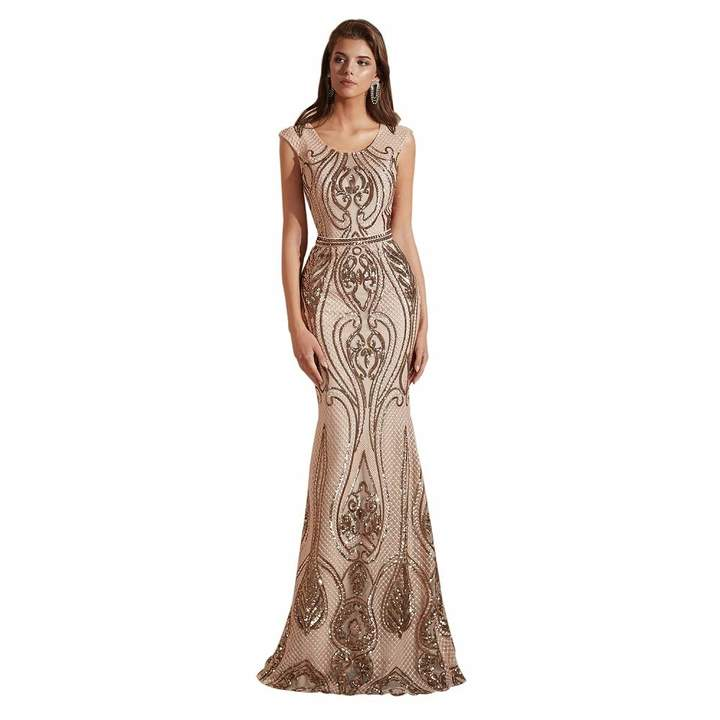 705532454ec92 Leyidress Women's Sexy Sequins Trumpet Mermaid Dresses Evening Dress Long  Party Prom Gown
