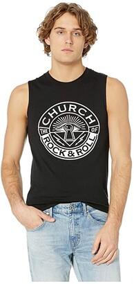 The Church of Rock & Roll Original Logo Premium Tank Top (Black) Men's Clothing