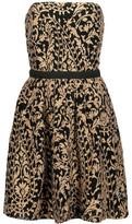 Joie Borough Metallic Embroidered Gauze Mini Dress