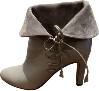Bally Grey Leather Ankle boots