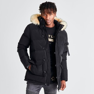 SikSilk Men's Long Parka Jacket
