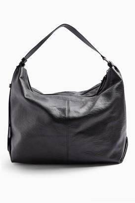 Topshop Black Slouchy PU Hobo Bag