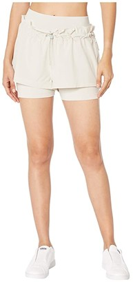 adidas by Stella McCartney Hiit Two-Piece Detail Shorts FK7178 (Core Brown) Women's Shorts