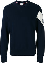 Moncler Gamme Bleu logo patch knitted sweater - men - Cotton - M