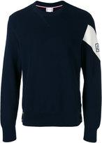 Moncler Gamme Bleu logo patch knitted sweater - men - Cotton - S