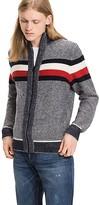Tommy Hilfiger Textured Wool Zip Cardigan