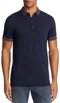 BOSS ORANGE Pilipe Spacedye Trim Slim Fit Polo Shirt
