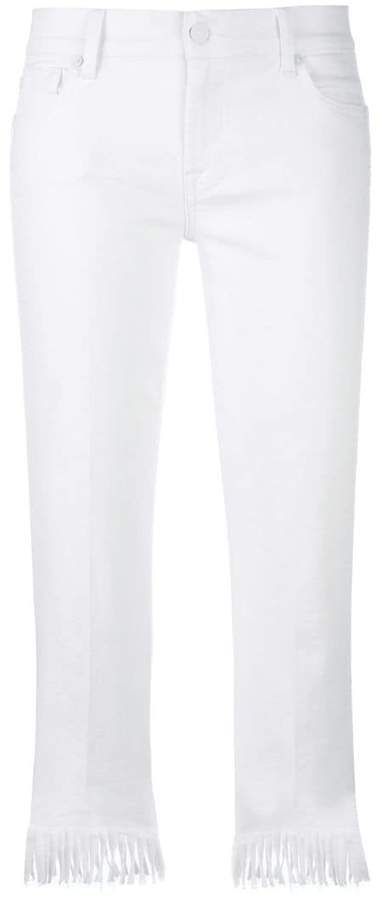 7 For All Mankind fringed trim skinny jeans