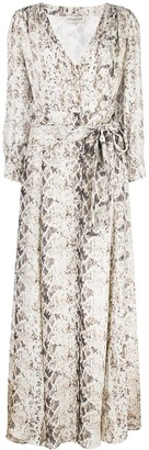 Nicholas Snakeskin-Print Maxi Dress