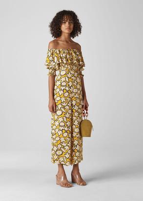 Rhea Print Silk Jumpsuit