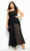 City Chic Secret Desire Maxi Dress - black