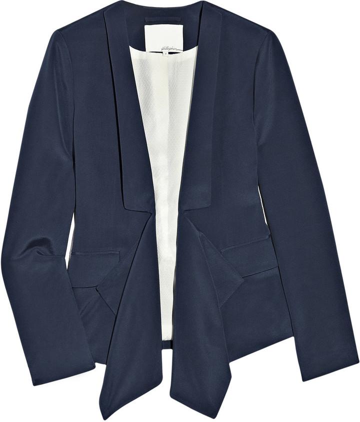 3.1 Phillip Lim Draped silk crepe de Chine blazer