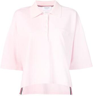 Thom Browne Piqué Cotton Oversized Pocket Polo