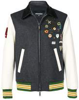 DSQUARED2 badge bomber jacket