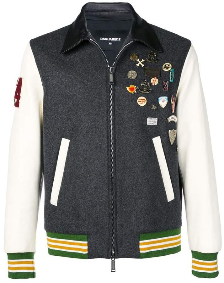 DSQUARED2 badge bomber jacket