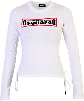 DSQUARED2 Printed Long Sleeve T-Shirt