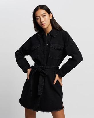 Mossman - Women's Black Mini Dresses - The Solitary Dress - Size 10 at The Iconic