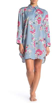 Josie Lotus Boquet Satin Sleep Shirt