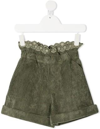 Philosophy Di Lorenzo Serafini Kids Paperbag-Waist Shorts